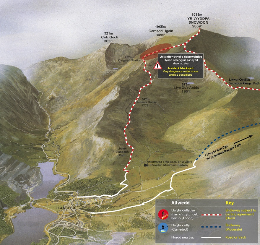 Llanberis Path Map © APCE_SNPA