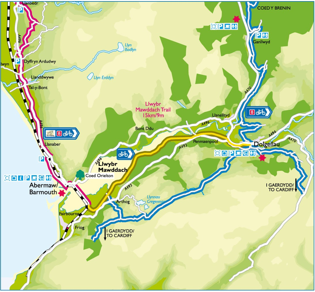 Mawddach Trail Route Map