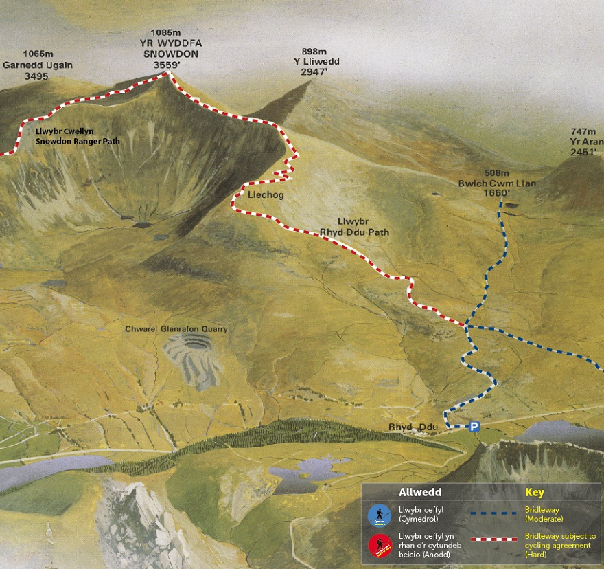 Rhyd Ddu Path Map © APCE_SNPA