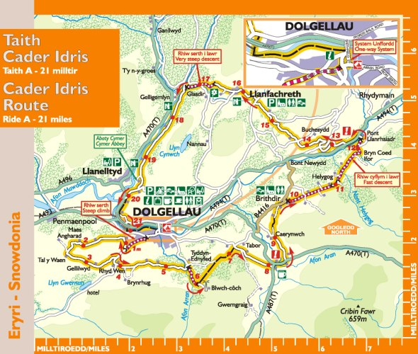 Cader Idris Route Map