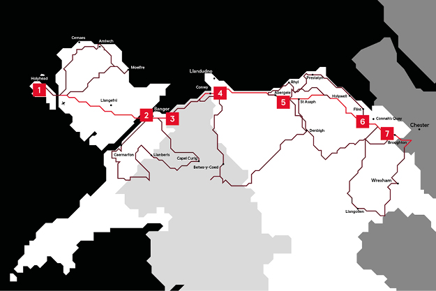 The North Wales Way Route