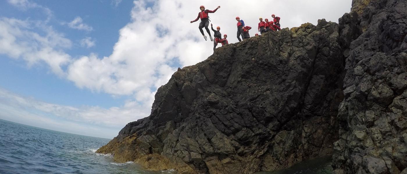 Coasteering Jump, Porthdinllaen, Llŷn Peninsula