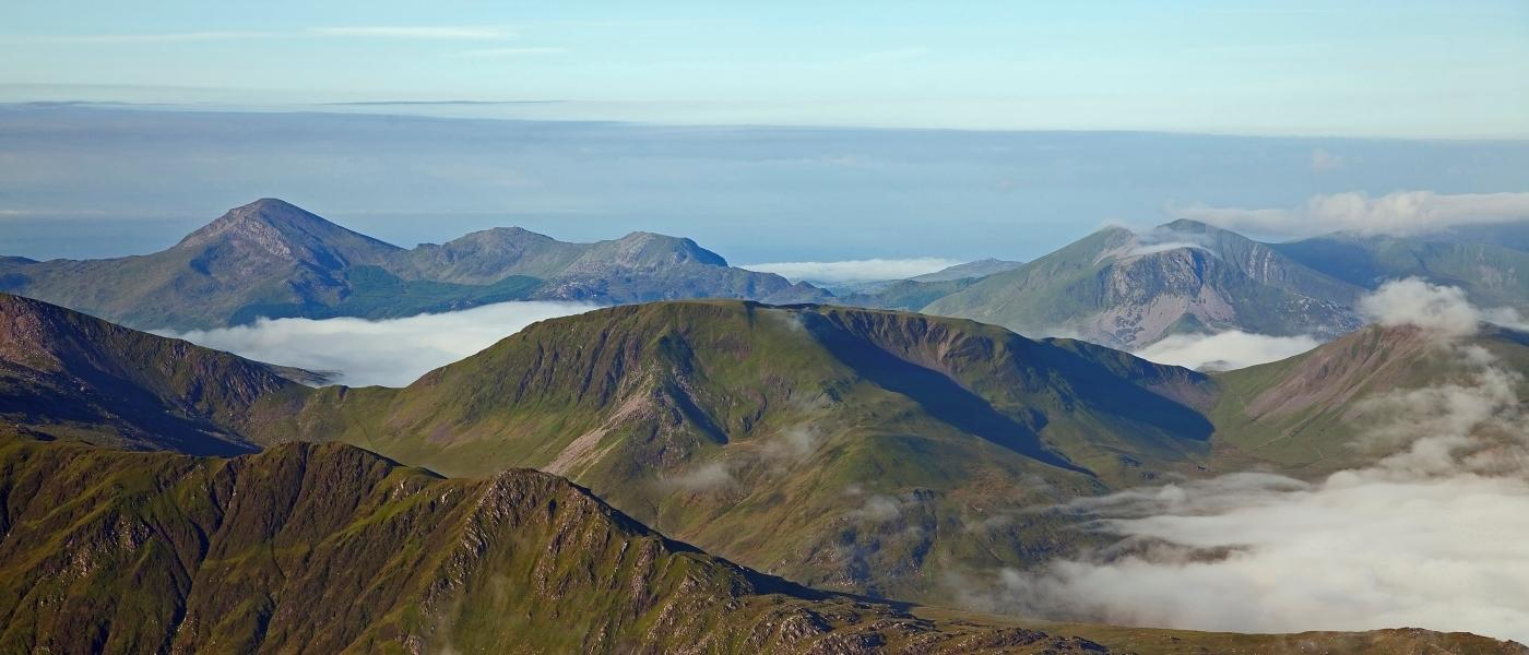 Landscape image, Nantlle inversion, taken from Elidir Fawr